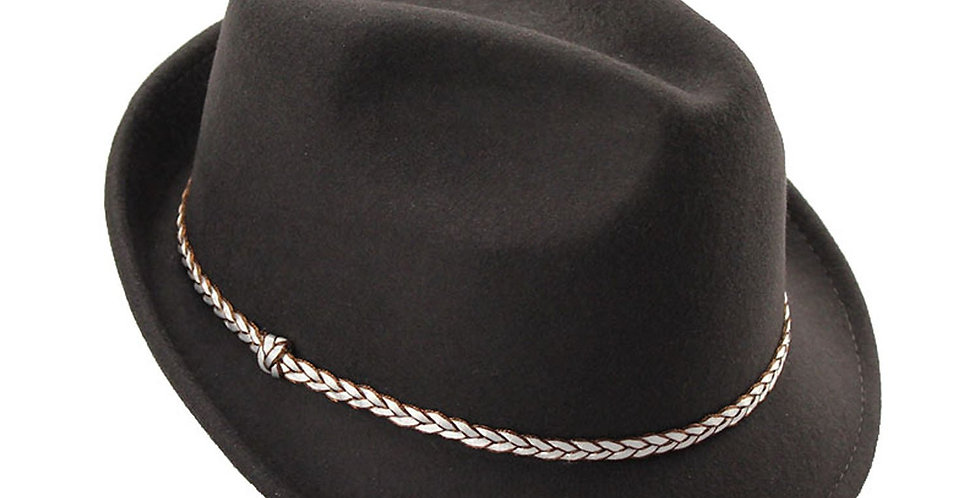 Mechaly Women's Hailey Brown Fedora Hat