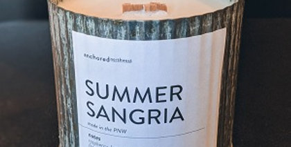 Summer Sangria Rustic cedar wick soy candle