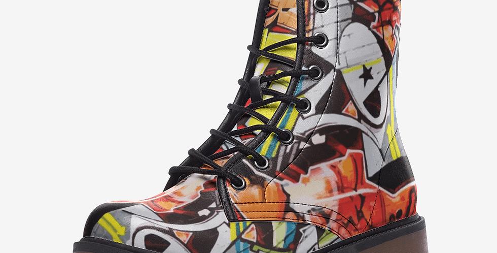 Grafeeti Leather Combat Boots