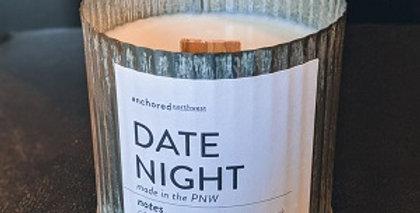 Date Night Rustic cedar wick soy candle