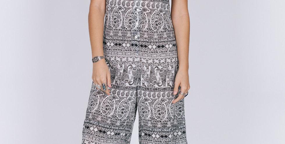 Black Dahlia Culottes Jumpsuit