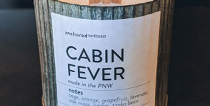 Cabin Fever Rustic cedar wick soy candle