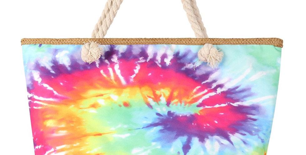 Hdg3218pk - Pink Tie Dye Tote Bag