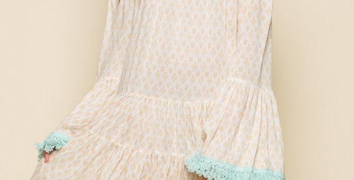 Gold Gypsy Tiered Short Dress