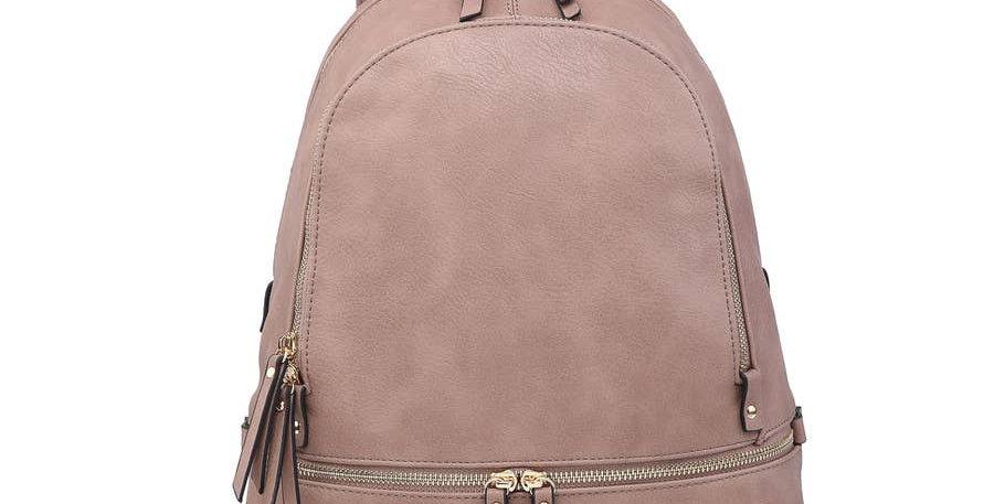 Triple Zip Pocket Backpack