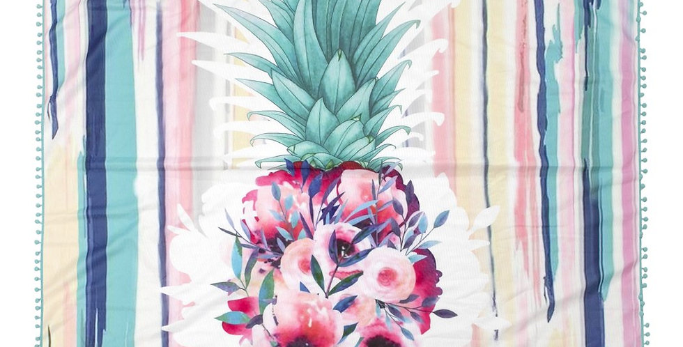 Hdf2758-21 - Floral Pineapple Square Towel