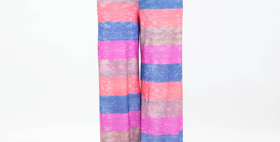 Wide Leg High Waist Multi Colored Maxi Pants