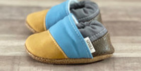 Yellow N Blue Moccasins