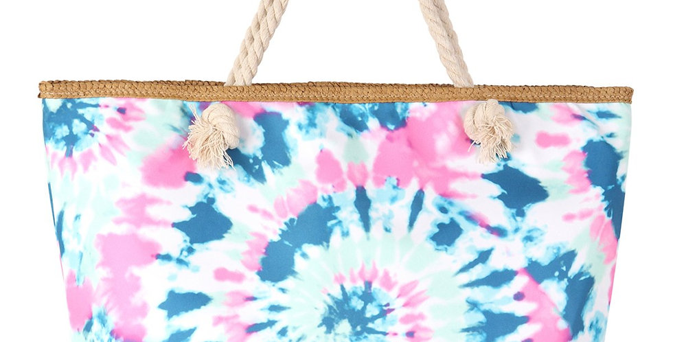 Hdg3218bl - Blue Tie Dye Tote Bag
