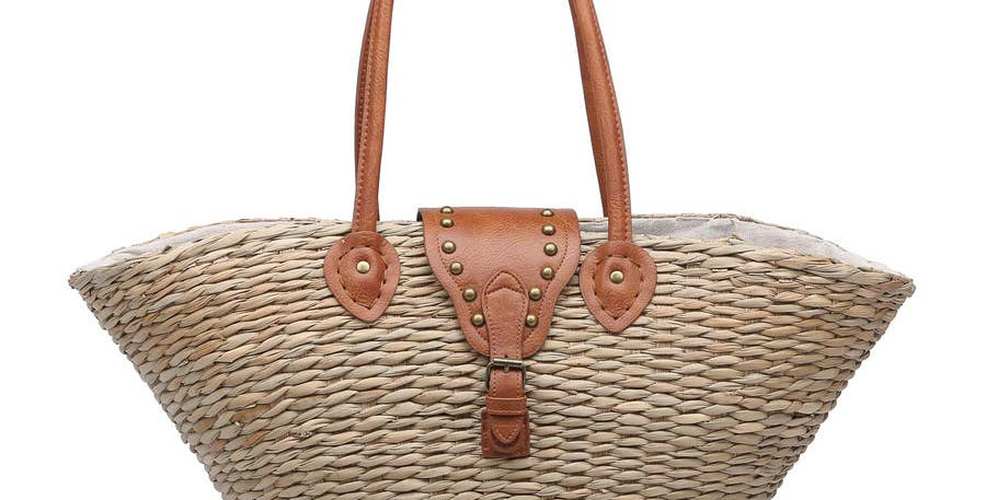 Medium Oversized Natural Seagrass Tote