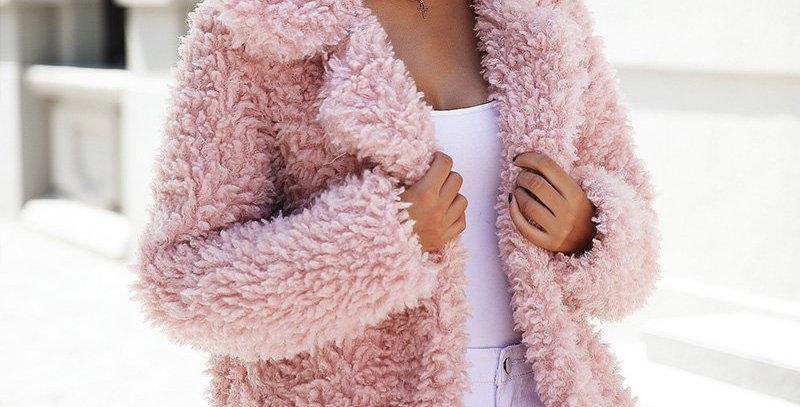 Faux Fur Long Casual Coat