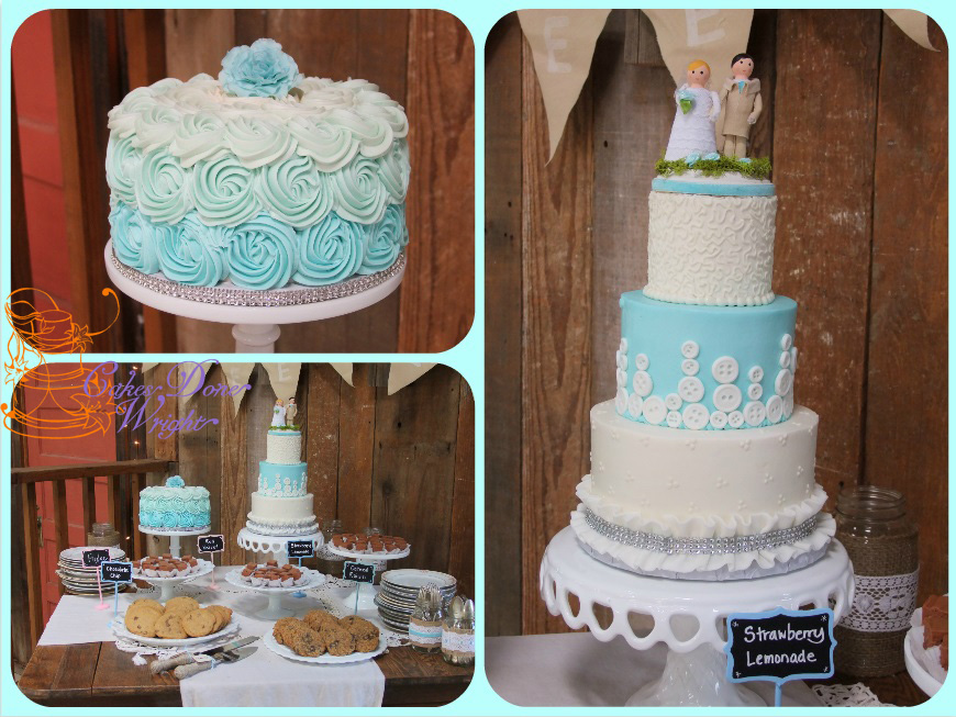"""Buttons"" wedding cake"