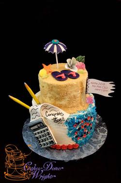 Double theme cake