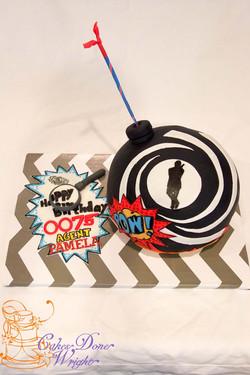 007 spy bomb cake