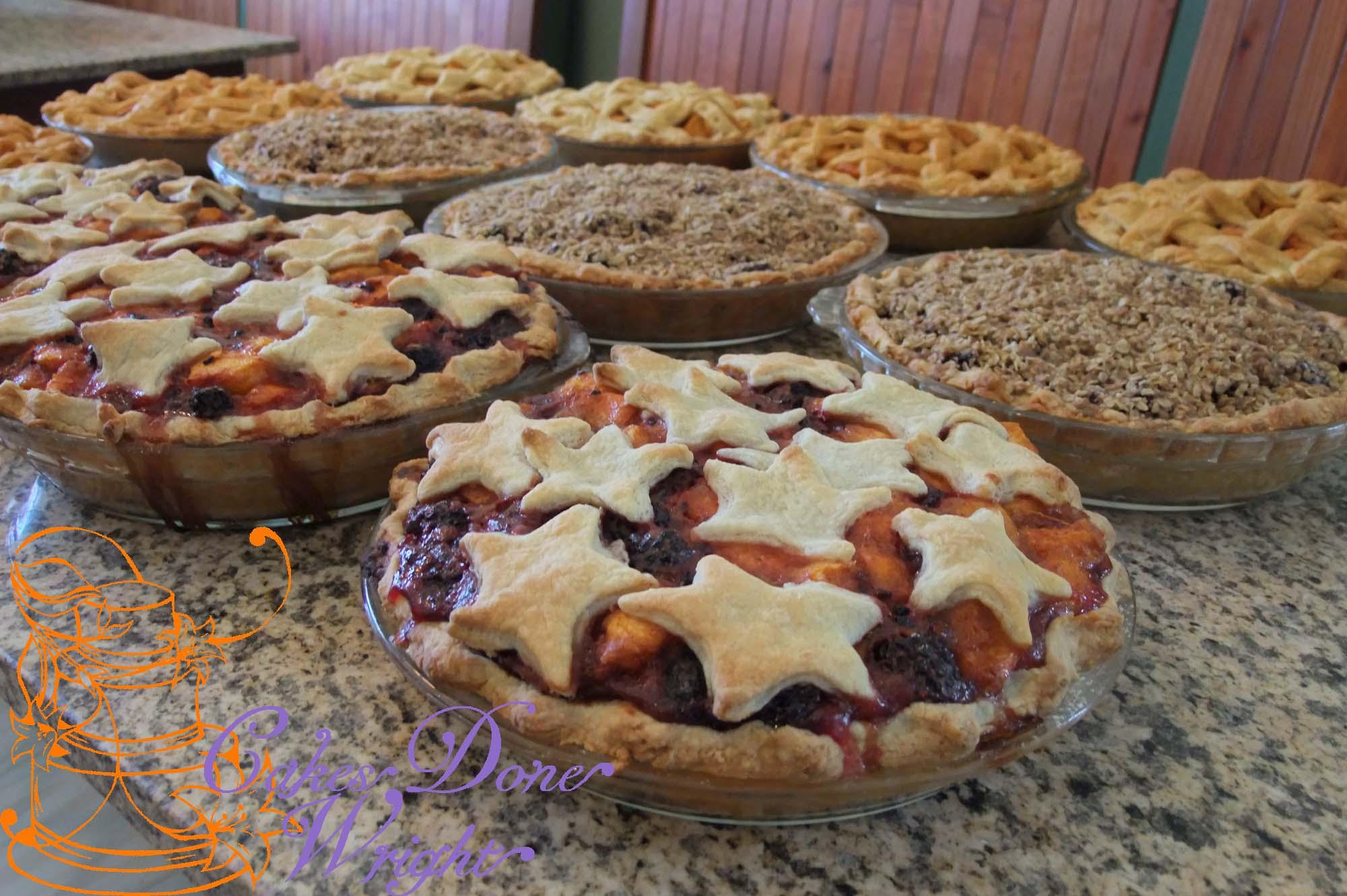 Fruit pies wedding