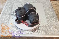 Camera graduation cake