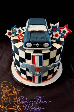 Mustange Car cake
