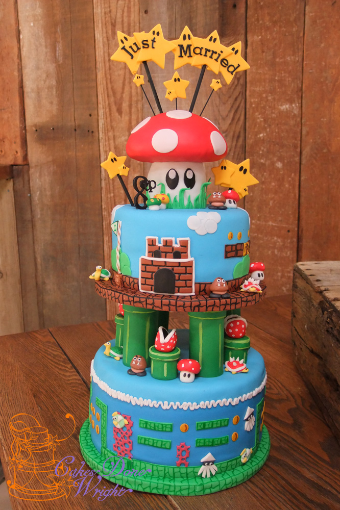Mario Nintendo Grooms cake