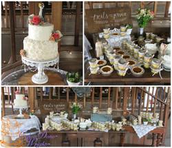 cake jars and mini pies