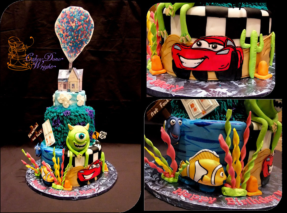 Pixar Themed cake