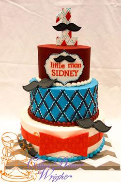little man mustache cake