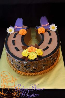 Cowboy Horseshoe cake