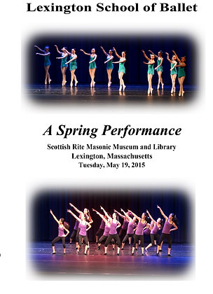 DVD - Lexington School of Ballet May 19, 2015