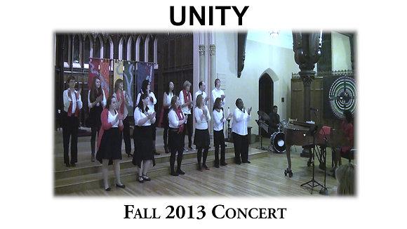 UNITY Fall Concert DVD  December 8, 2013