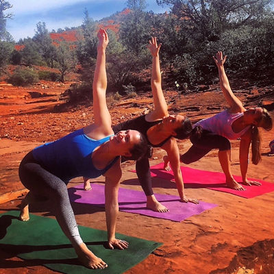 Treat yourself to a yoga retreat with daily yoga hikes and classes on the red rocks with breathtakin