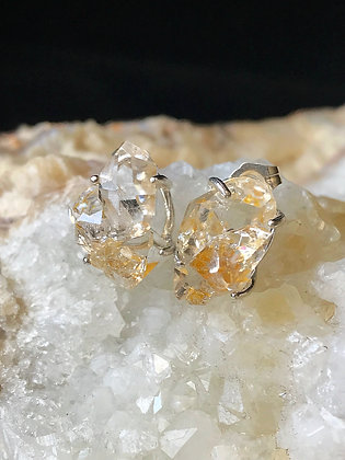 Golden Herkimer Cluster Earrings