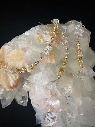 Libyan Tektite & Herkimer Diamond Set