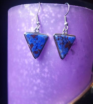 Sugilite/Richterite Earrings