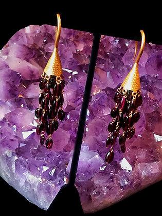 Chandelier Garnet Earrings