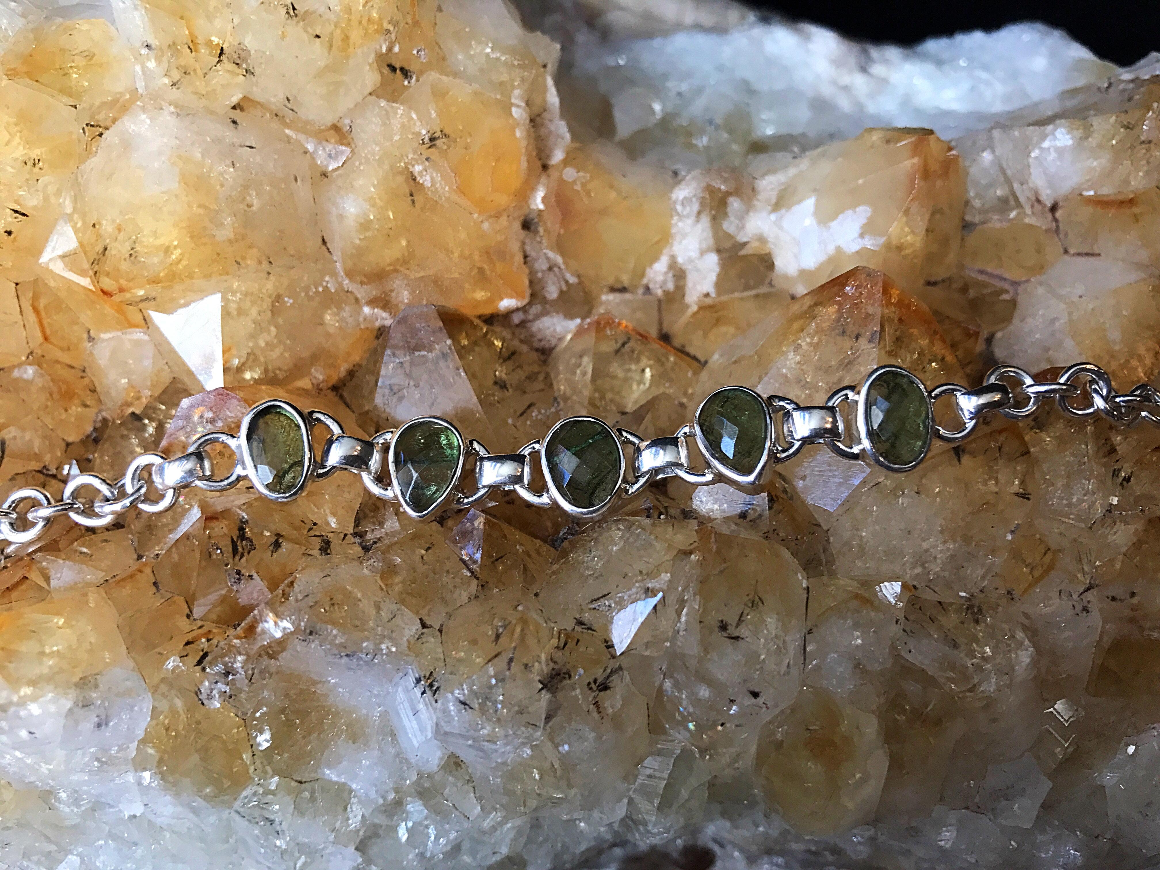 Moldavite Faceted Bracelet | starseed-astrology-html