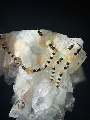 Opal & Black Spinel