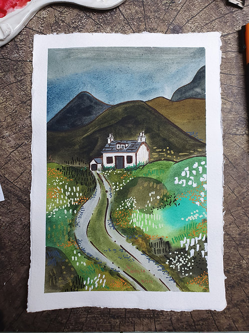 To live in the Hills- A4 Art print