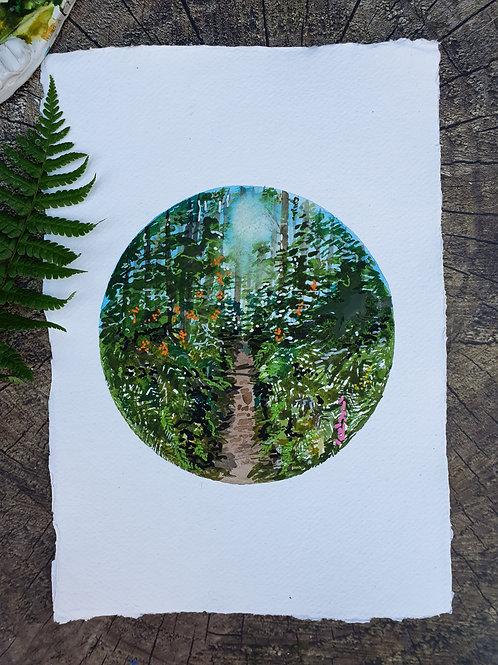 Through The Trees- A4 Art print