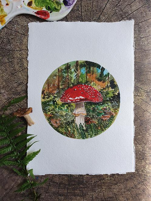 On the Forest Floor- A4 Art print