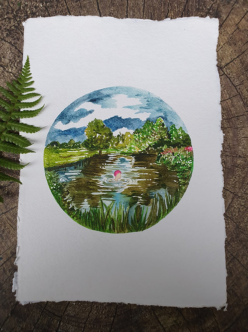 Just me and the River- A4 Art print
