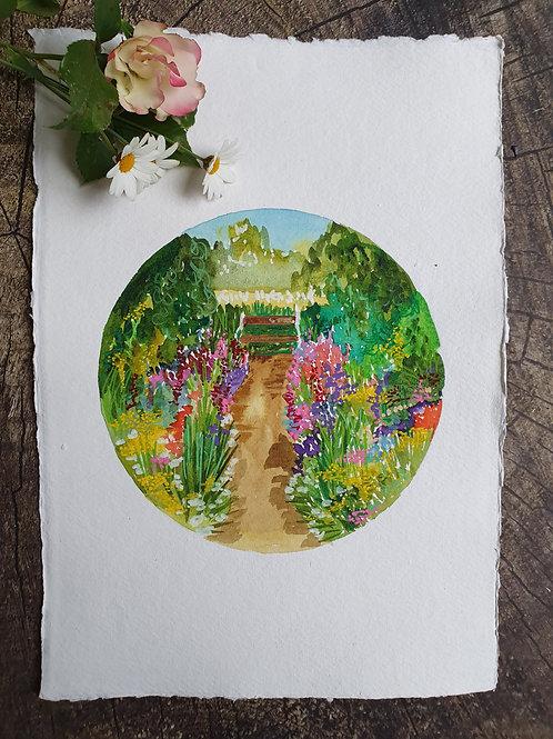 A Country Garden- Original A4 watercolour