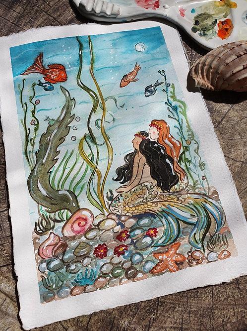 Mermaid Tales - A4 Art print