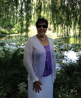 Lina at Claude Monet's Japanese Water Garden in Giverny