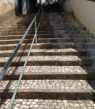 Long and steep staircase in Estoril, Portugal