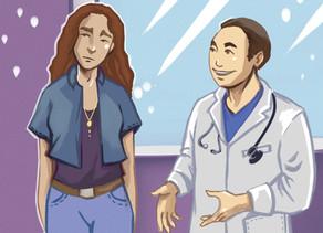 Медициналық маманға транс*адамдар туралы