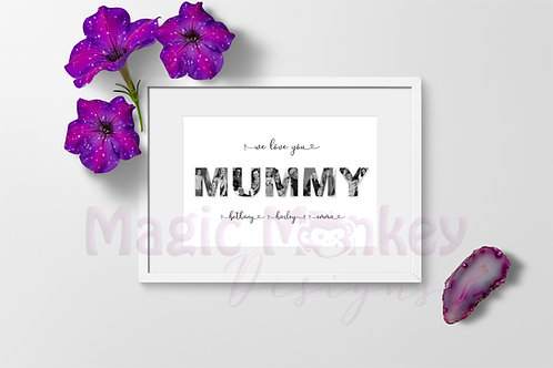 Mothers Day photo print