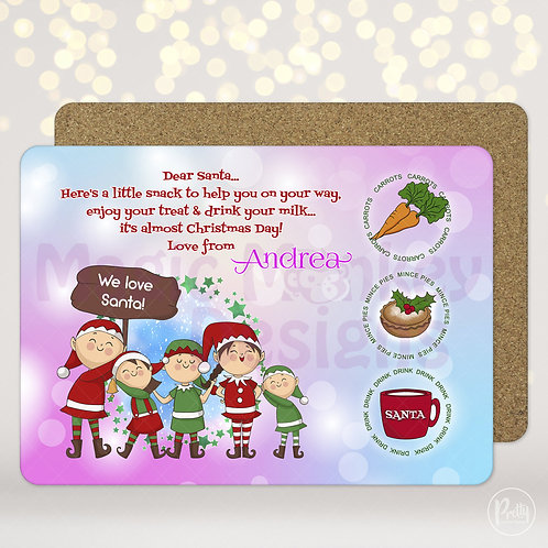 Pink & Blue Santa Treat Mats