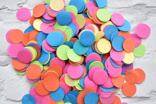 Rainbow Circle Confetti (20 packets)