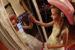 Magic Mirror touch screen draw