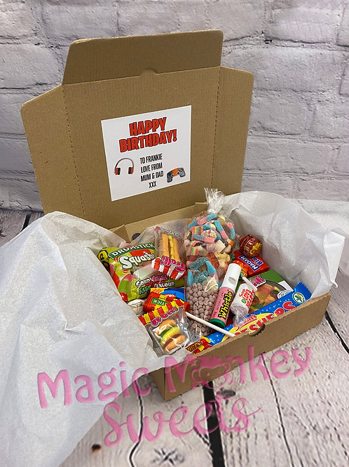 Personalised Birthday Box full of Sweets