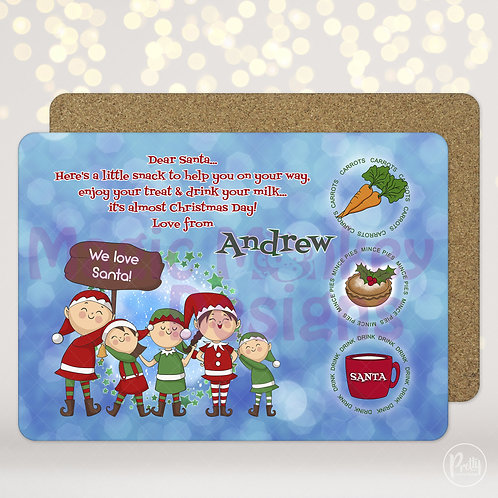 Blue Santa Treat Mats